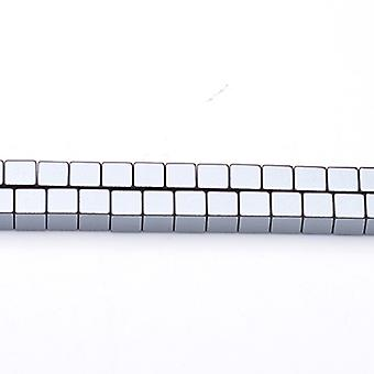 Strand 62+ Grey Hematite (Non Magnetic) 6mm Cube Beads GS6861-1