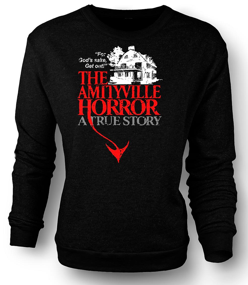 Mens Sweatshirt Amityville House - horreur - film