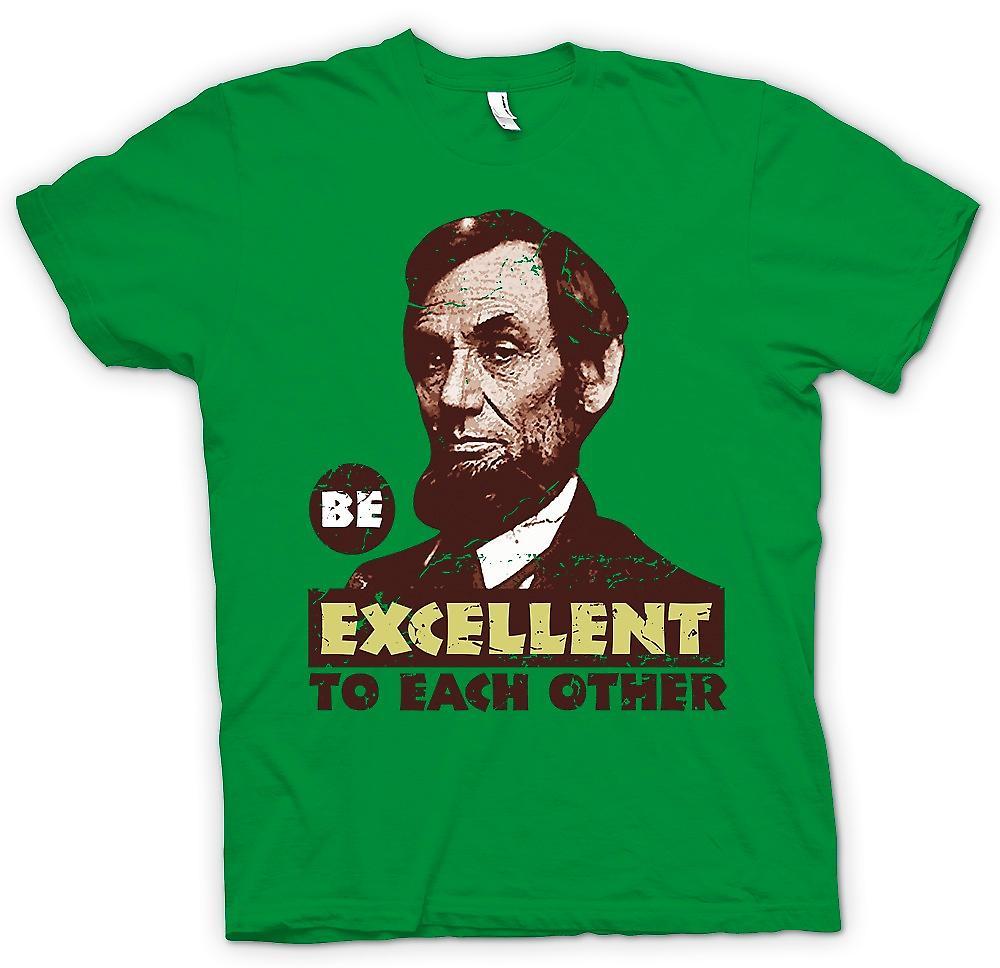 Herr T-shirt - vara utmärkt till varandra - Bill och Ted - Funny
