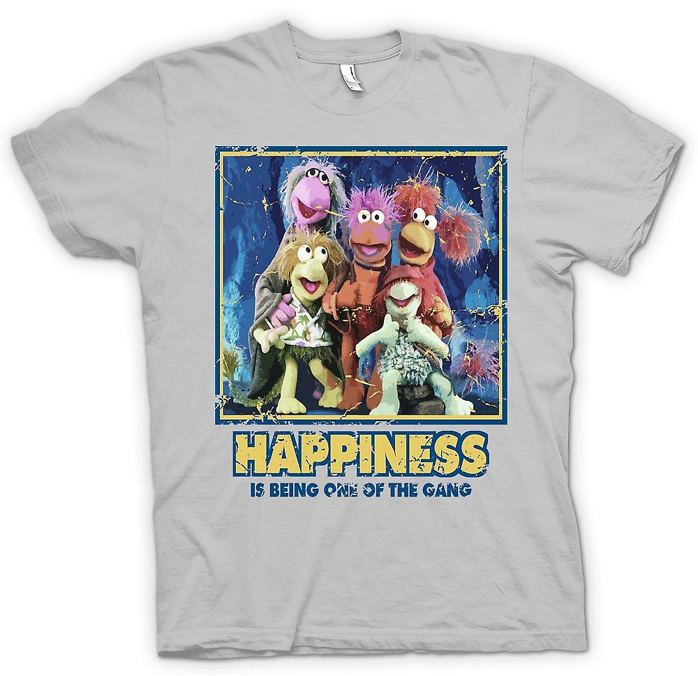 Mens T-shirt - Happiness Is Being One Of The Gang - Fraggle Rock inspired