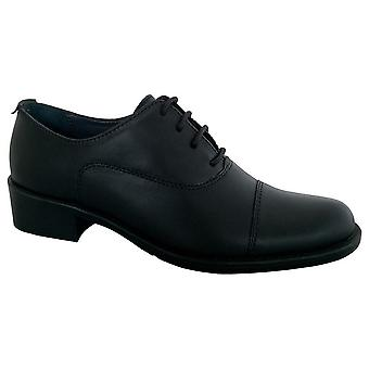 Grafters Womens/Ladies Capped Oxford 4 Eye Uniform Shoes