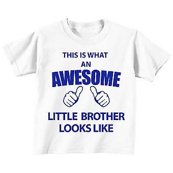 Dies ist was An Awesome kleiner Bruder sieht aus wie weiß Tshirt blau Text