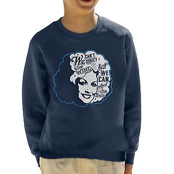 Wir nicht, wohin des Winds, aber wir können die Segel Dolly Parton Angebot Kinder Sweatshirt