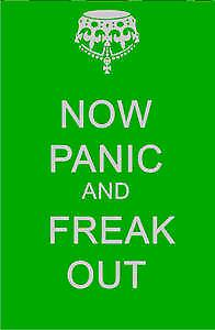 Now Panic and Freak Out fridge magnet    (dm)