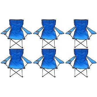 6 niebieski idealna czarny lekki składany Camping kapitanów leżaki