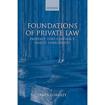 Foundations of Private Law Property Tort Contract Unjust Enrichment by Gordley & James