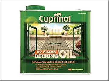 Cuprinol UV Guard Decking Oil Natural Oak 2.5 Litre
