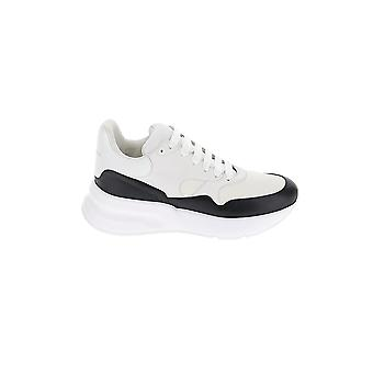 Alexander Mcqueen White/black Leather Sneakers