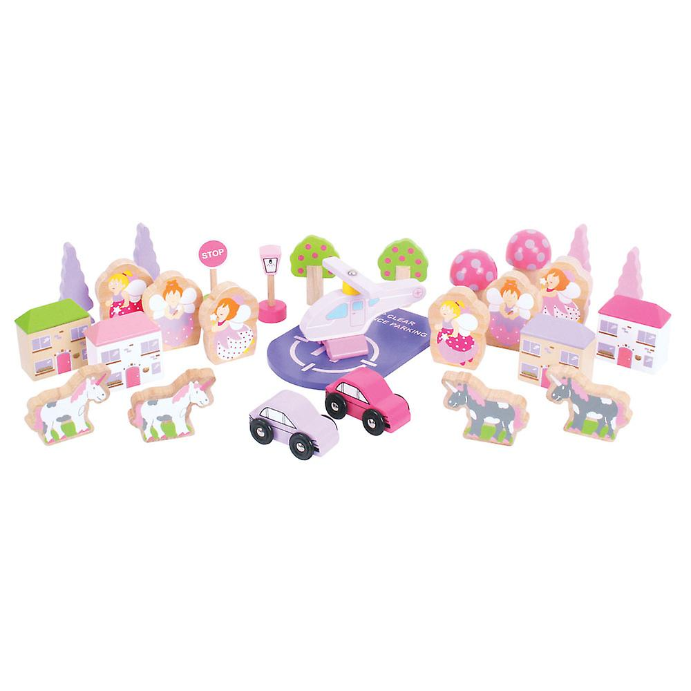 Bigjigs Rail Fairy Accessory Expansion Pack Pink Train Track Accessories Set