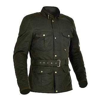 Oxford Rifle verde Bradwell giubbotto moto impermeabile