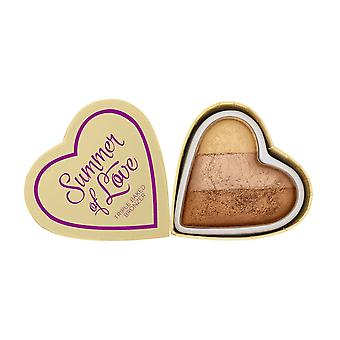 Makeup Revolution Blushing Hearts Bronzer-Hot Summer of Love