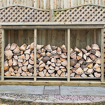 Superior Treated Redwood Heavy Triple Log Store