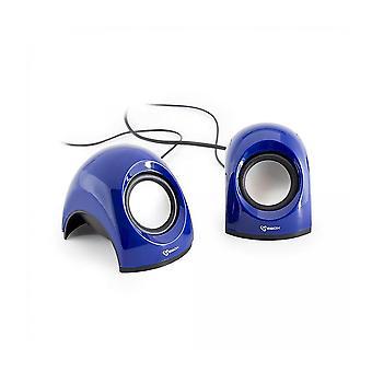 Tubarão SBOX falante estéreo USB-azul (SP-092BL)