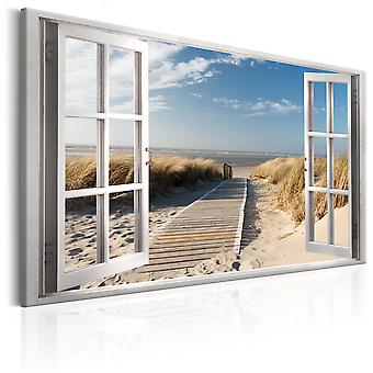Tableau - Window: View of the Beach