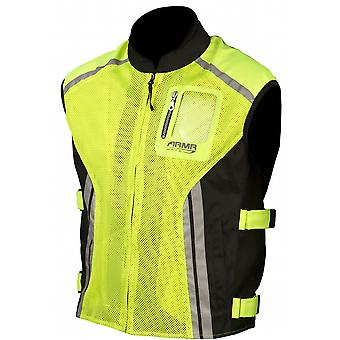 ARMR Moto Fluorescent Yellow Standard Motorcycle Safety Vest