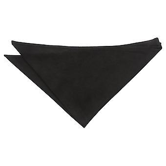 Black Suede Pocket Square