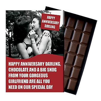 Lesbian Wedding Anniversary Gift Civil Partner LGBT Queer Chocolate Greeting Card Present CDL220