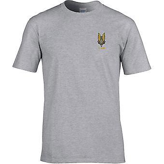 SAS Special Air Service C Sqn - Camiseta Premium bordada con licencia del Ejército Británico