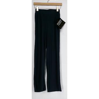Pantalon Iman Wide Leg Palazzo Style Pull On Seam Détail Blue Womens 394-907