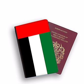 UNITED ARAB EMIRATES Flag Passport Holder Style Case Cover Protective Wallet Flags design