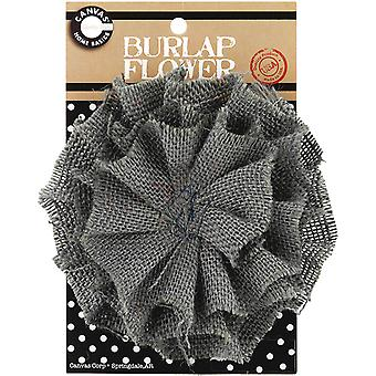 Burlap Flower Grey Burflwr 3031