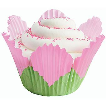 Baking Cups Petal Pink 24 Pkg Fancy Standard W4151375