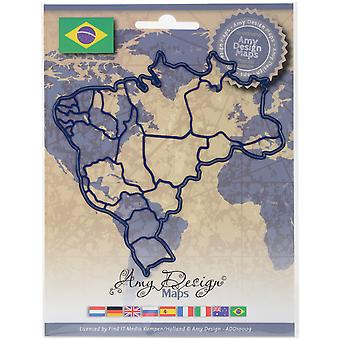 Find It Trading Amy Design Map Die-Brazil ADD10009