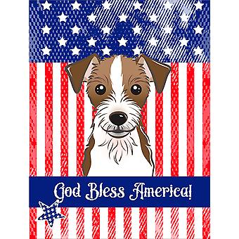 Jack Russell Terrier Flag Canvas House Size BB2132CHF