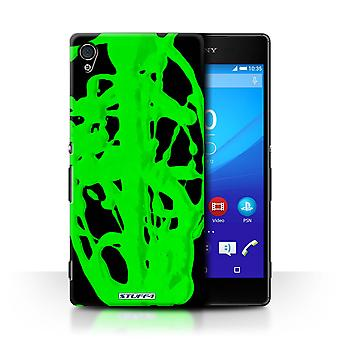 STUFF4 Case/Cover for Sony Xperia Z4v/E6508/Green/Blob/Paint Splatter