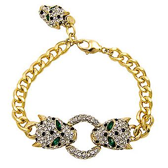 Butler & Wilson Crystal Leopard Köpfe Armband