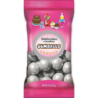 Celebrations By Sweetworks Gumballs 8oz-Shimmer (TM) Silver CG74508