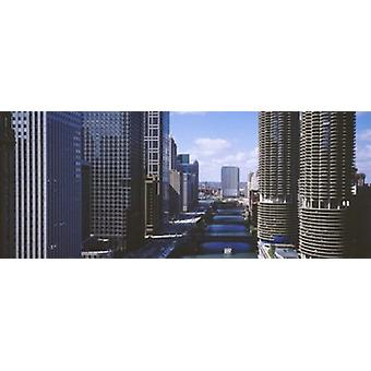 USA Illinois Chicago Chicago River Poster Print