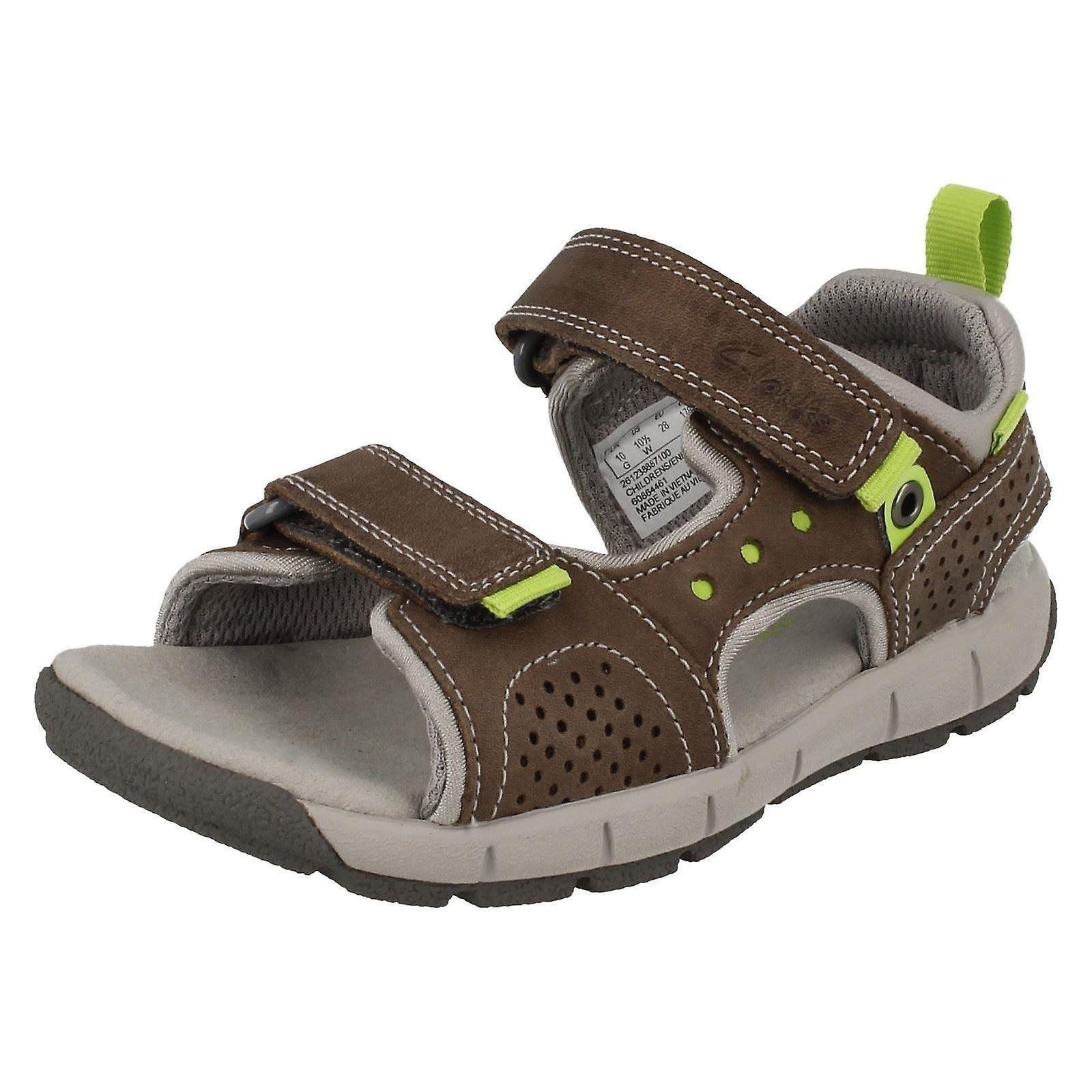Sandales d'été occasionnels de bébé Junior garçons Clarks Jolly sauvage