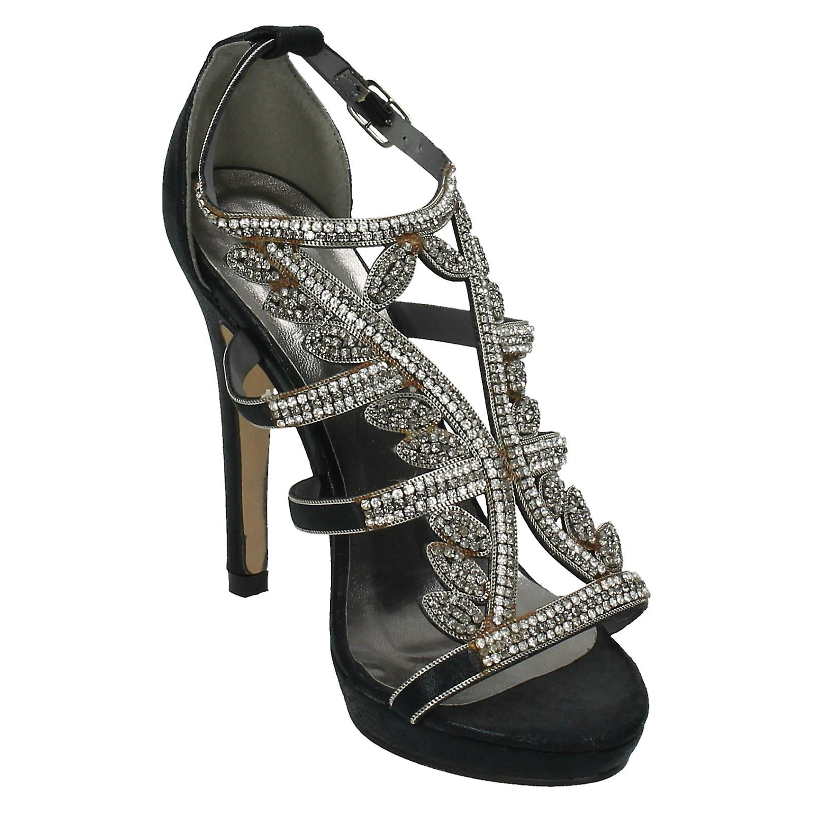 Diamante Party F10289 Michelle Ladies Anne Trim Heels BFT08wyEqx