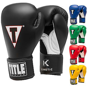 Título Boxeo cinética Aerovent Palm gancho y bucle guantes de entrenamiento