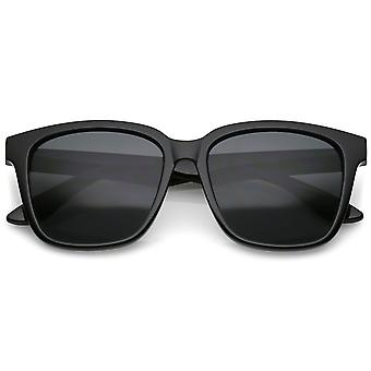 Large Horn Rimmed Sunglasses Wide Arms Square Lens 57mm