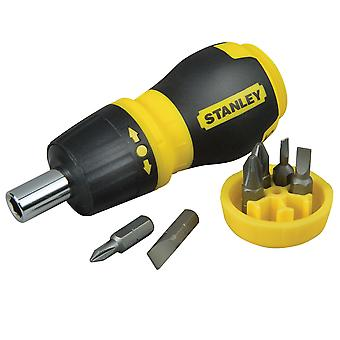 Stanley 0-66-358 Ratcheting Stubby Multi-Bit Screwdriver