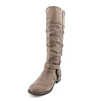 White Mountain Lefty Knee-High Boots - Brown Suede Smooth