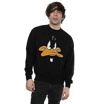 Looney Tunes Men's Daffy Duck Big Face Sweatshirt