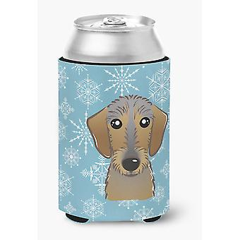 Snowflake Wirehaired Dachshund Can or Bottle Hugger