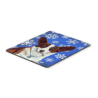 Corgi Winter Snowflakes Holiday Mouse Pad, Hot Pad or Trivet