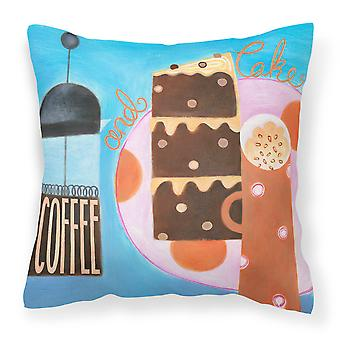 Kitchen Collection Coffee and Cake Canvas Decorative Pillow