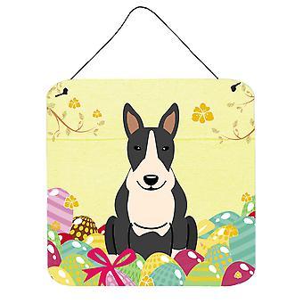 عيد الفصح البيض بول الكلب الأسود الأبيض الجدار أو الباب معلقة يطبع