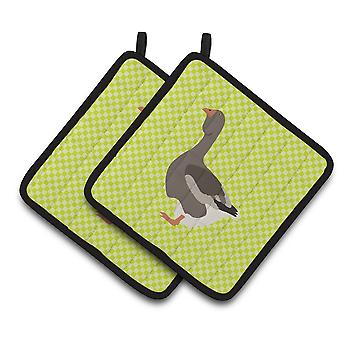 Carolines Treasures  BB7723PTHD Toulouse Goose Green Pair of Pot Holders