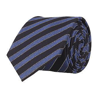 OTTO KERN narrow tie silk Club tie Navy blue silk tie striped 6.5 cm