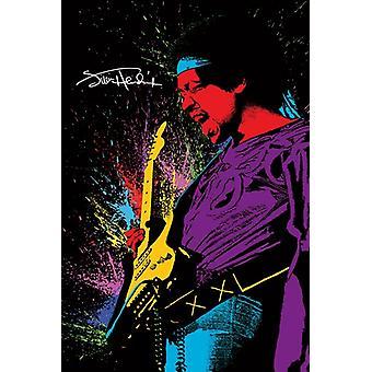 Jimi Hendrix - Paint Poster Poster afdrukken