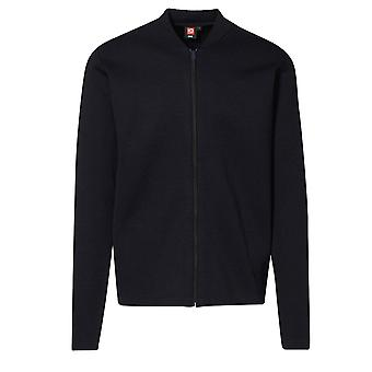 ID Mens Fitted Full Zip Knitted Cardigan