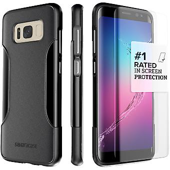 SaharaCase Galaxy S8 Classic Case, Protection Kit with ZeroDamage Tempered Glass - Black
