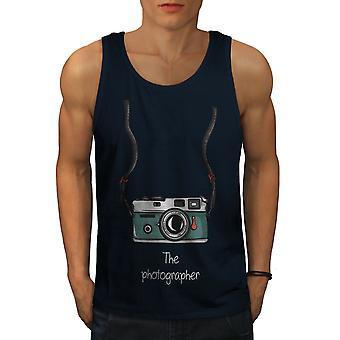 Photographer Men NavyTank Top | Wellcoda