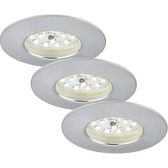 Briloner 7231-039 LED recessed light 3-piece set 16.5 W Warm white Aluminium